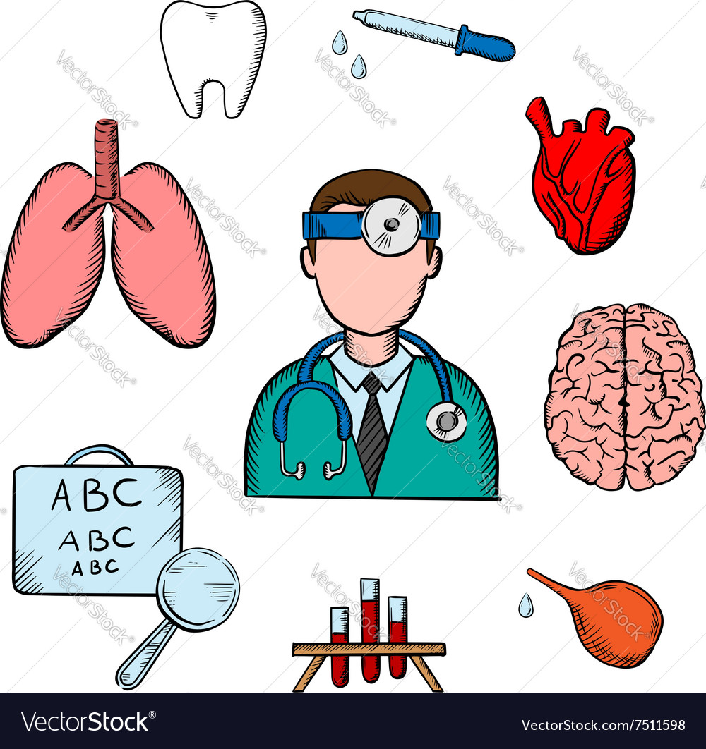 Doctor human organs and medical obects