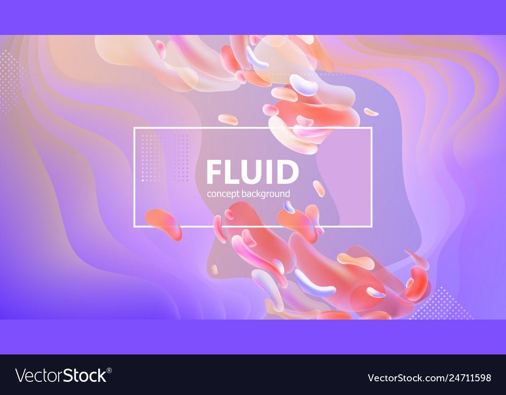 Fluid gradient shapes composition liquid color