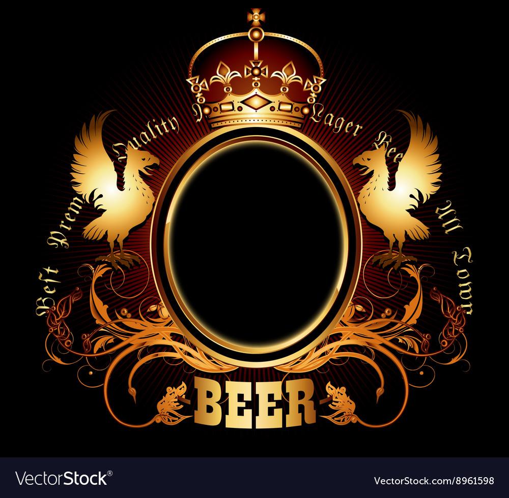 Ornate beer background