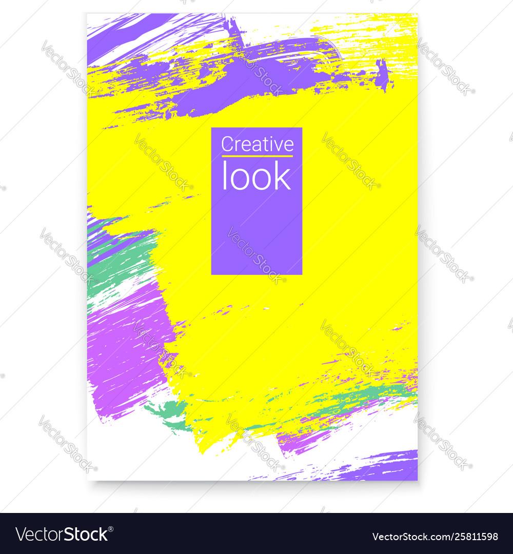 Poster summer colorful design for flyer