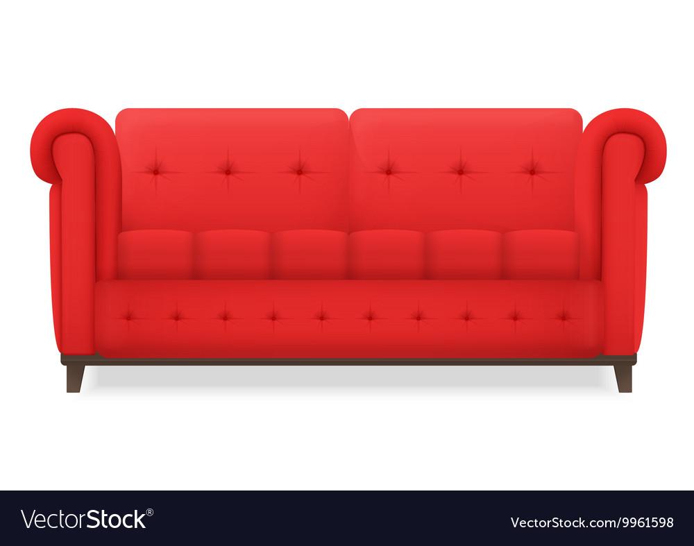 Red Leather luxury vintage living room sofa