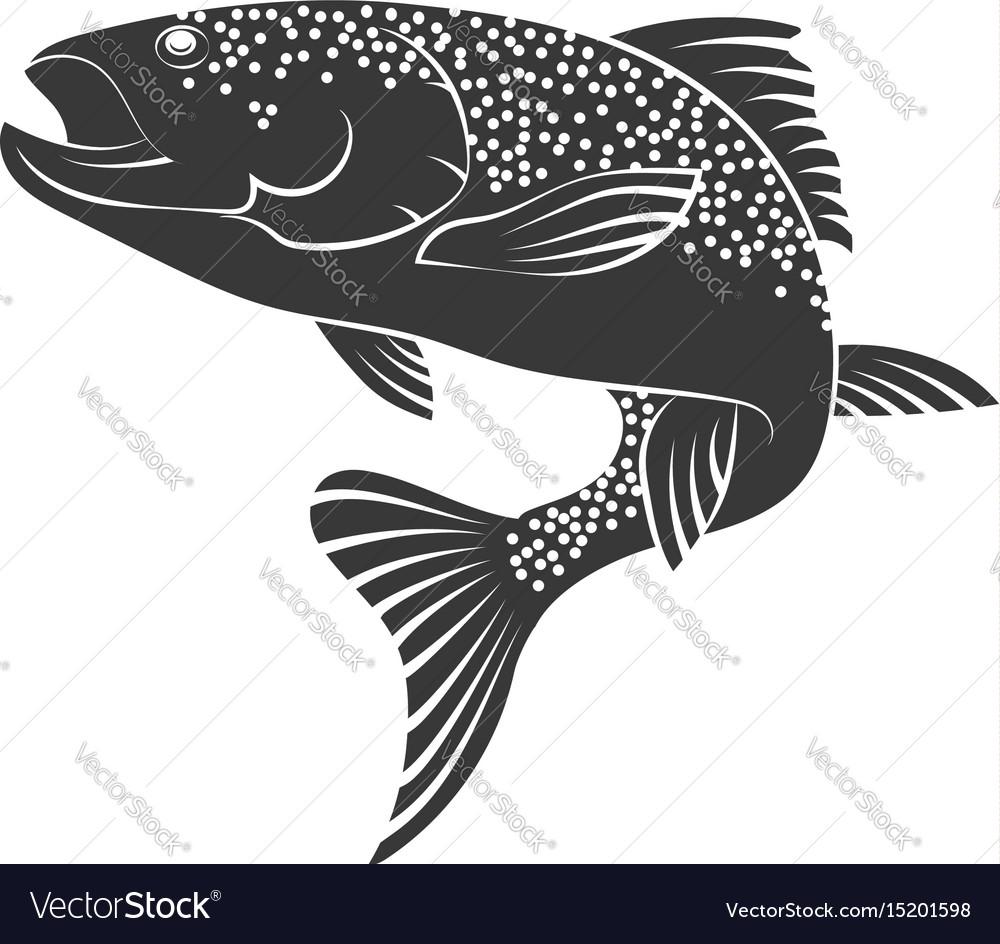 Salmon silhouette vector image