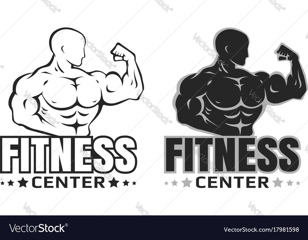 set logos for bodybuilding royalty free vector image rh vectorstock com bodybuilding logos graphic design bodybuilding logo maker