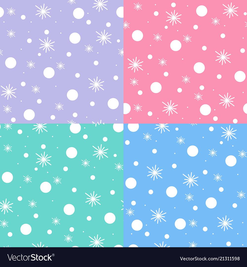 Snow pattern on pastel tones