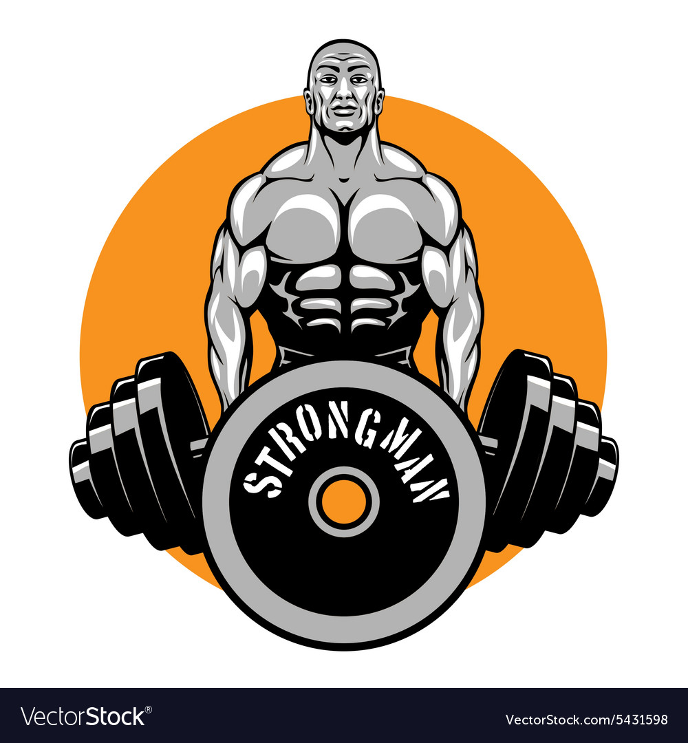 T-shirt design for bodybuilders and fitness Vector Image d1f19f60feec