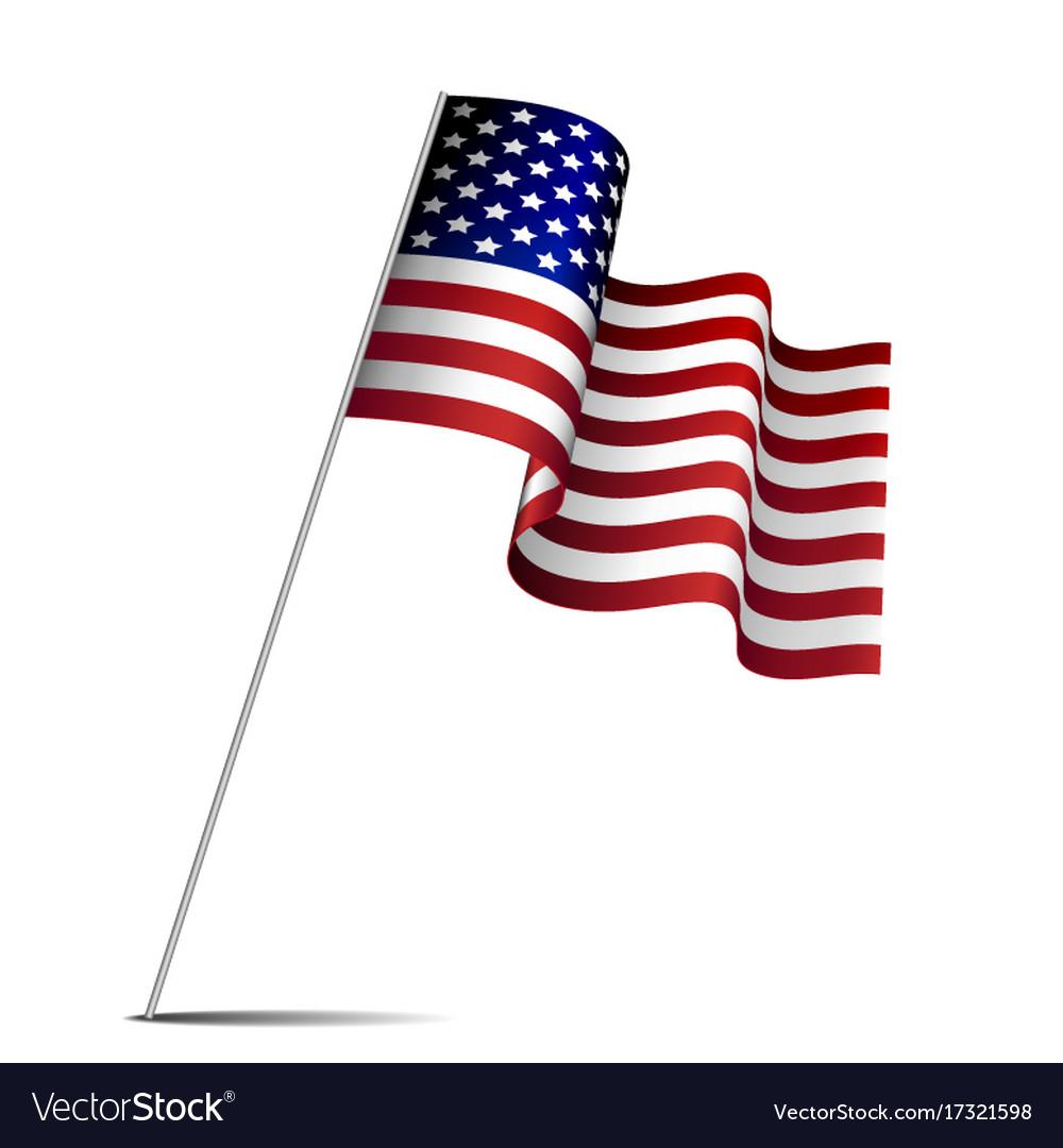 Waving american flag vector image