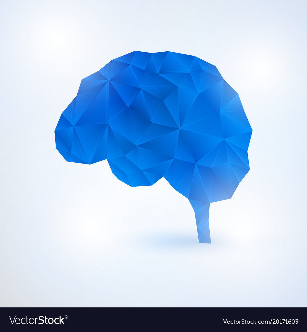 Artificial intelligence brain concept with binary