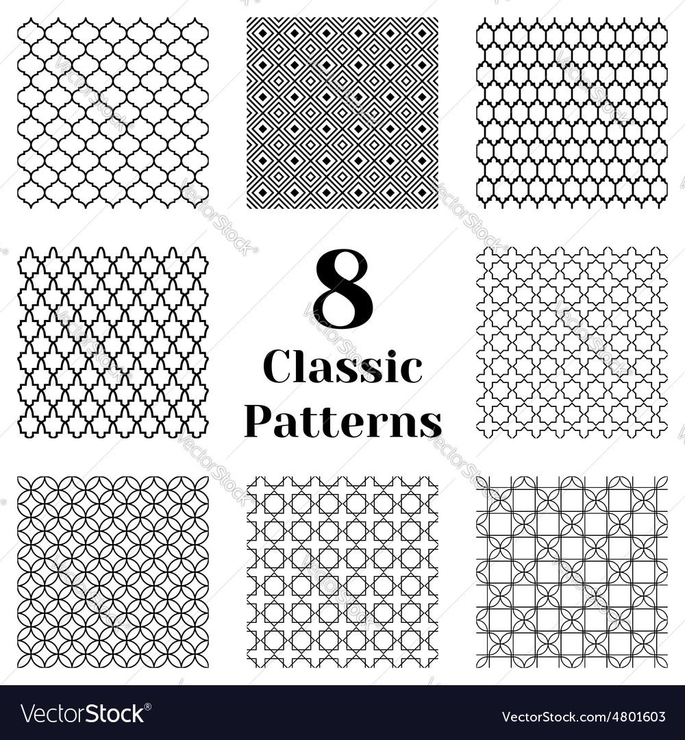 Classic seamless patterns