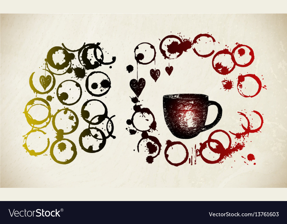Coffee cup background vector image