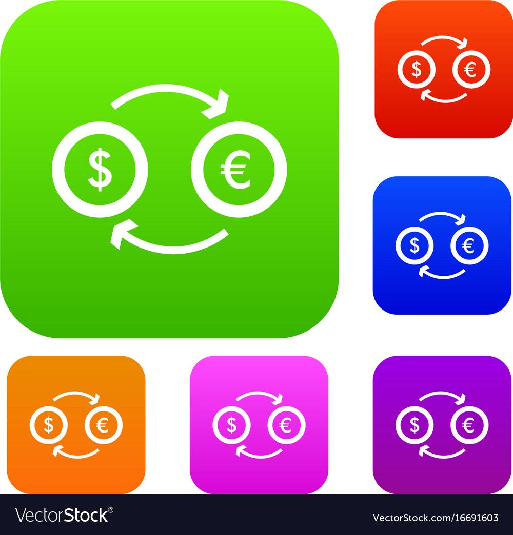 Euro dollar euro exchange set collection