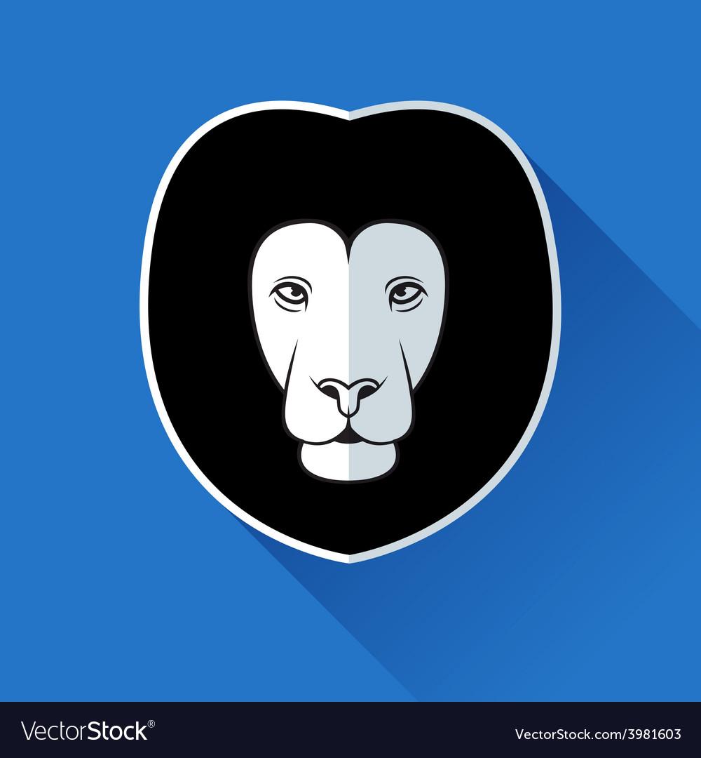 Flat lion logotype