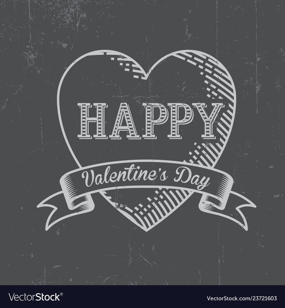 Happy valentine day postcard