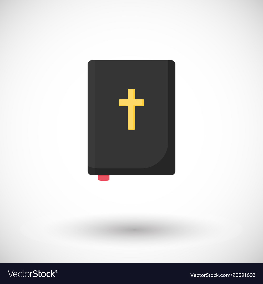 Holy bible flat icon
