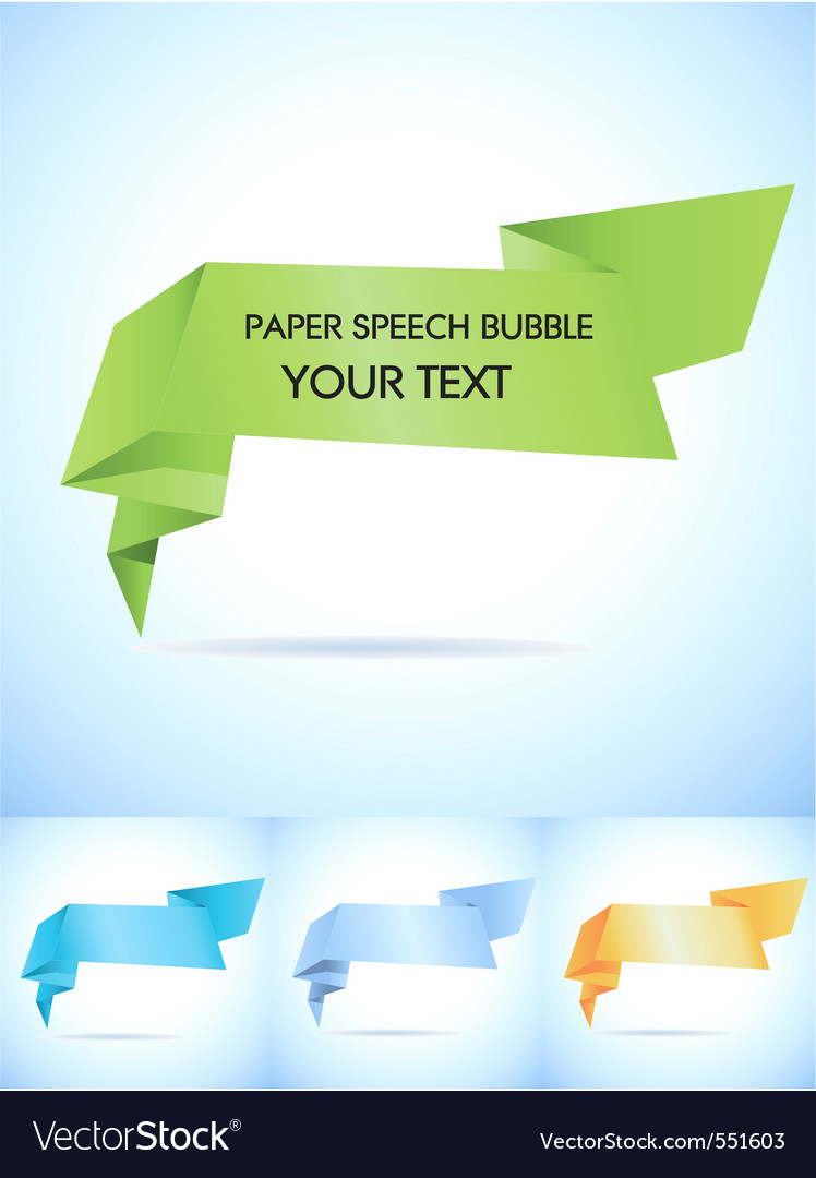 Paper speech bubble