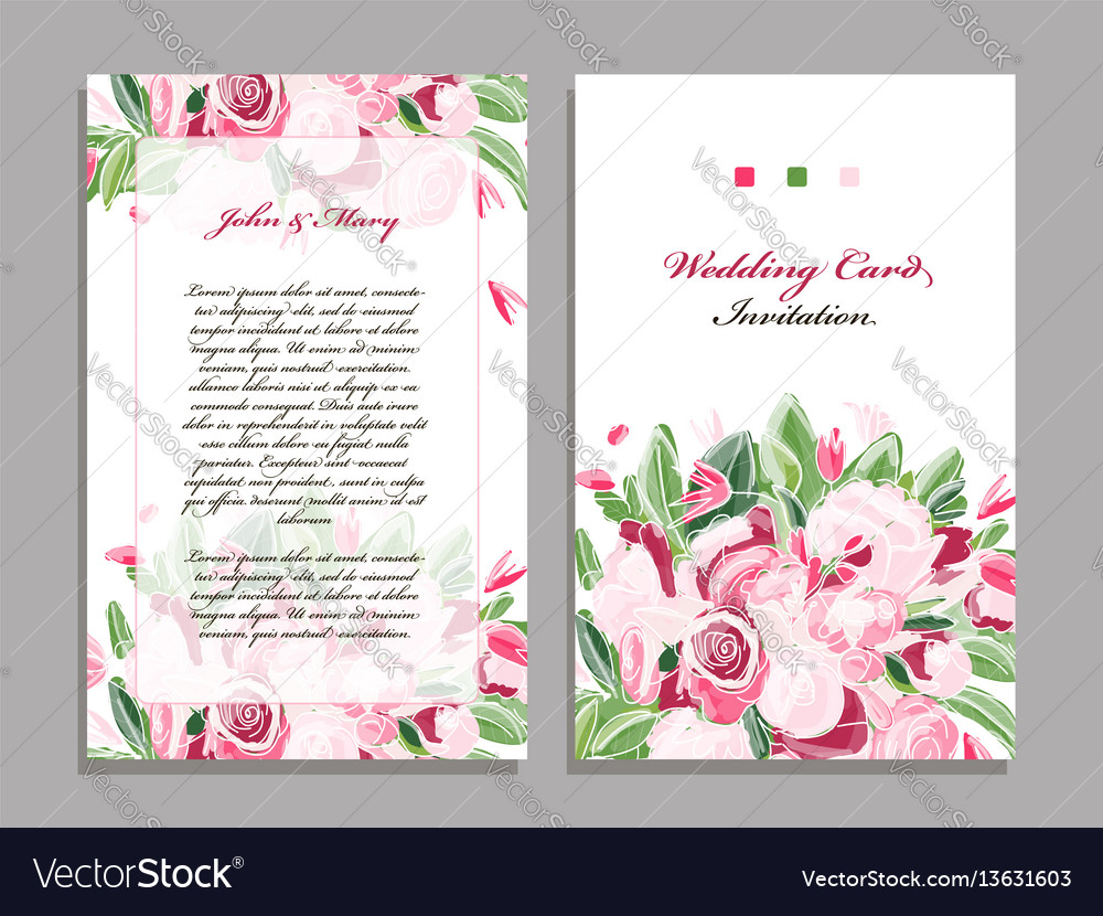 Wedding card template floral design royalty free vector wedding card template floral design vector image stopboris Image collections