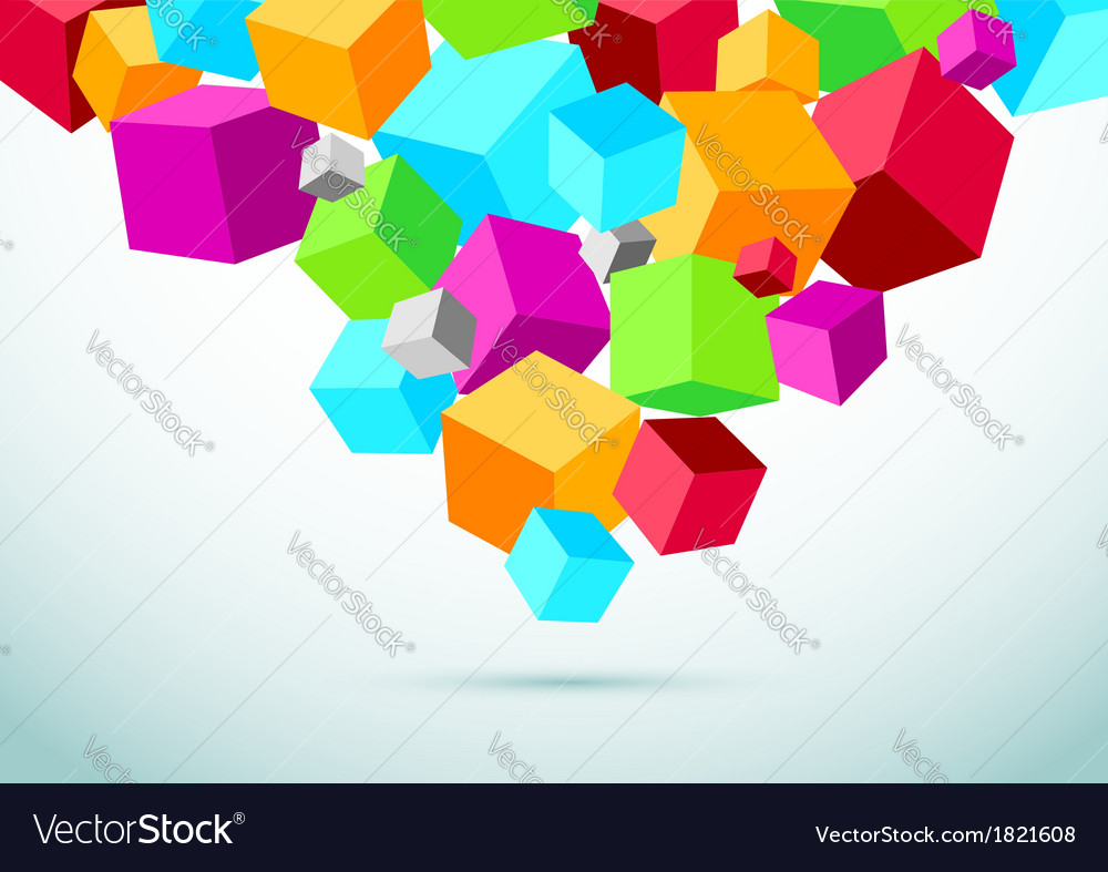 Abstract perspective background with colorful