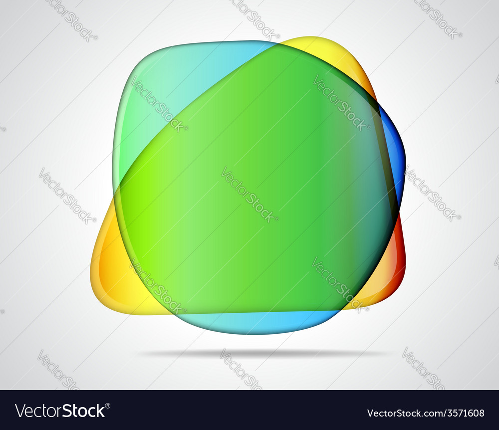 Colorful glass placeholders