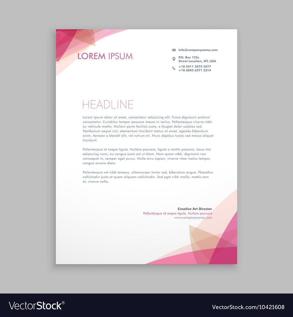 Creative letterhead stationary vector image