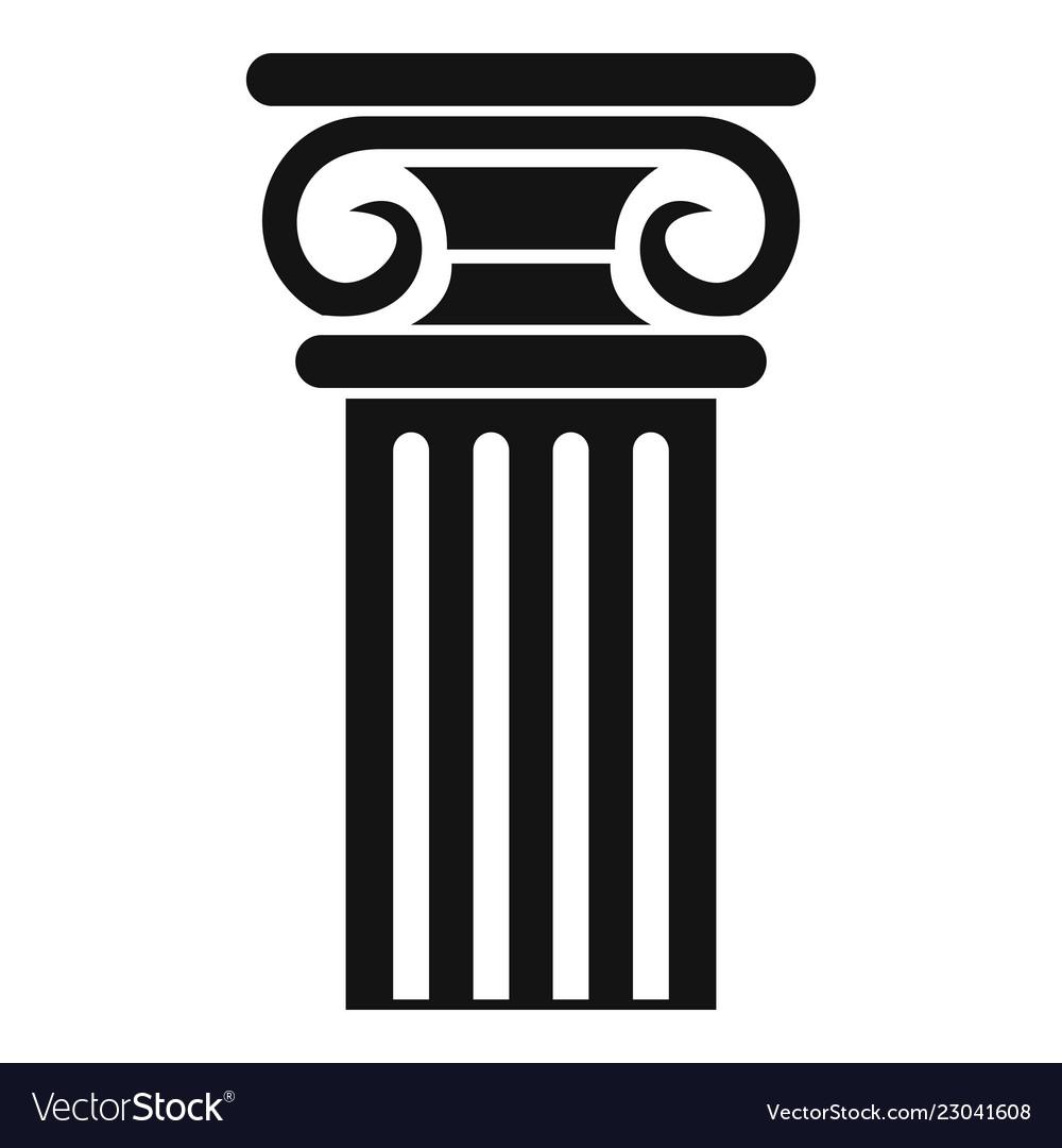 Greek column icon simple style