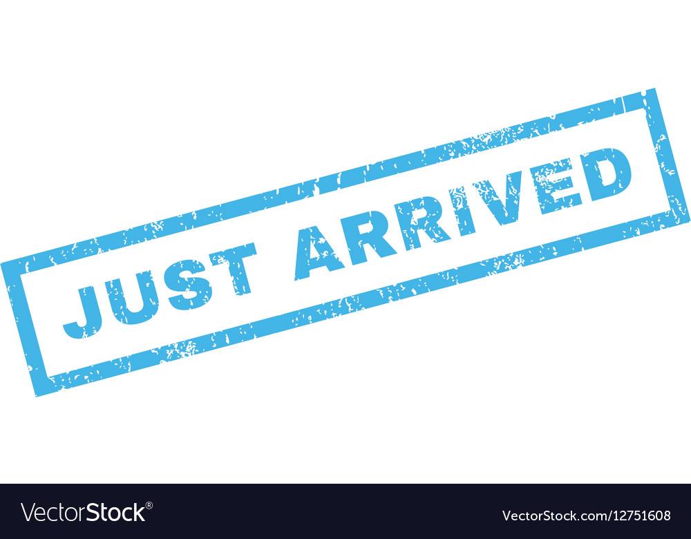 Just Arrived Rubber Stamp vector image