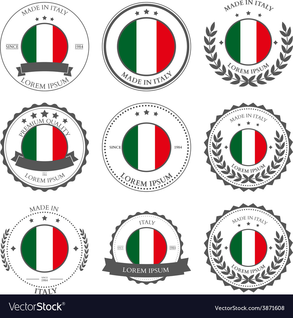 Made in Italy seals badges