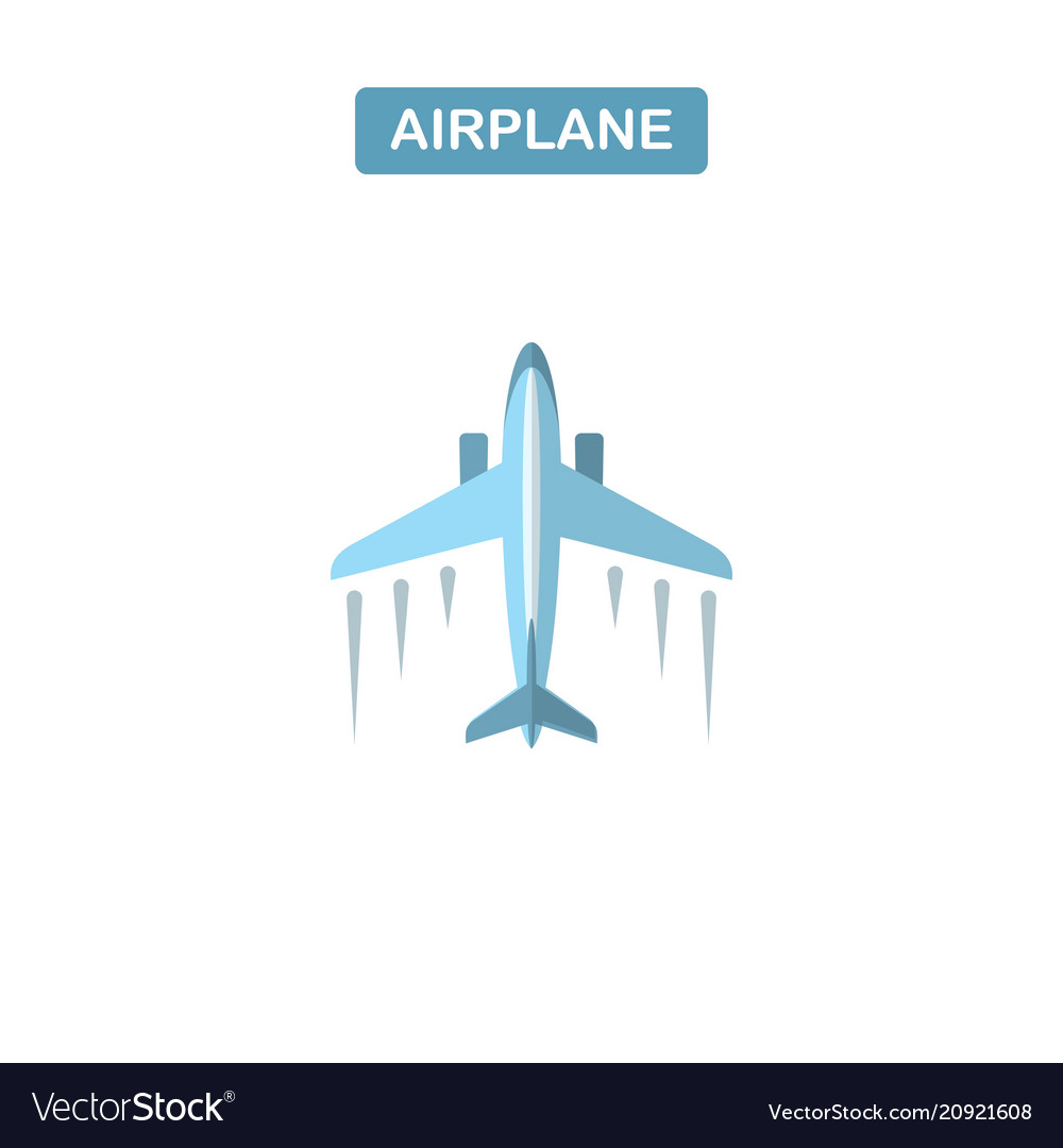Modern line icon of airplane flight