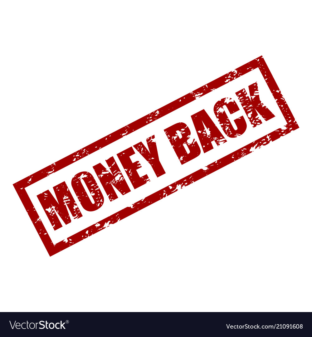 Money back rubber stamp texture