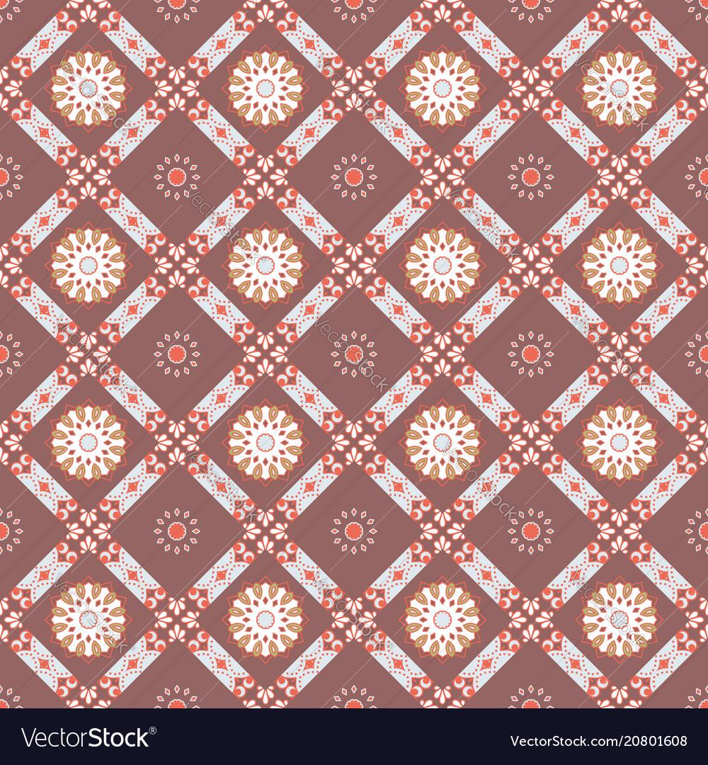 Seamless mandala pattern vintage elements in