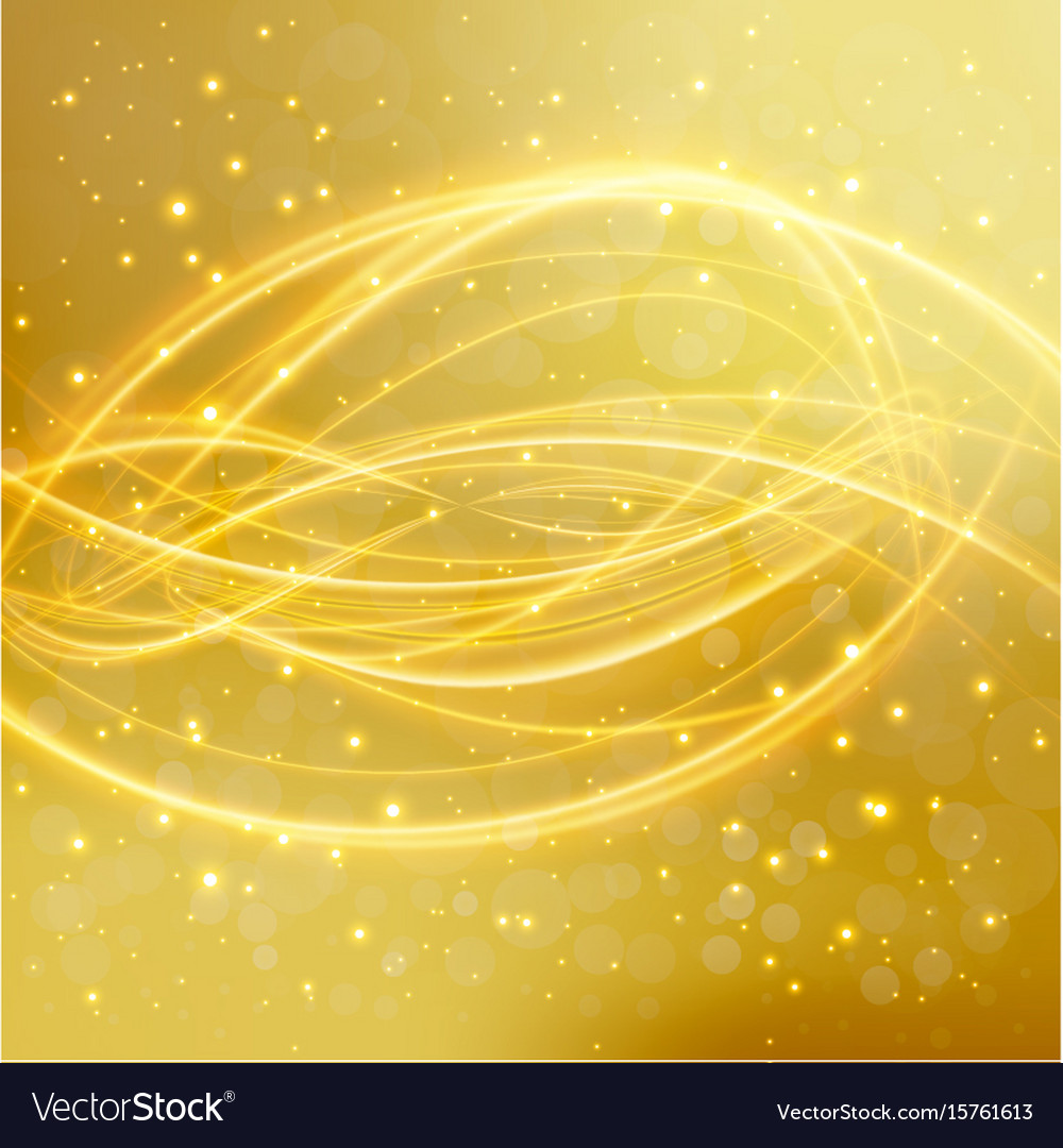 Abstract Golden Background With Laser Line