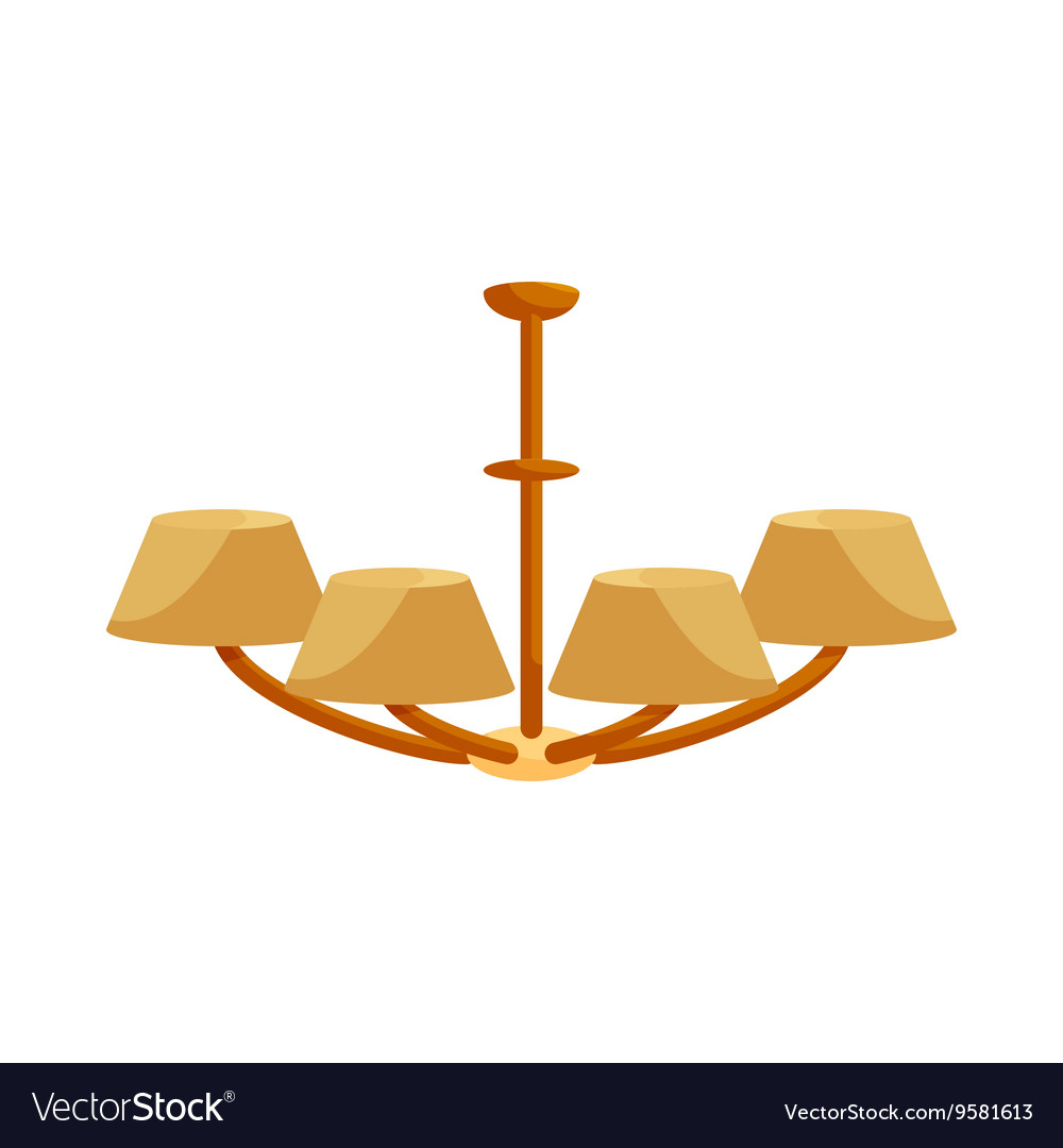Chandelier icon in cartoon style vector image