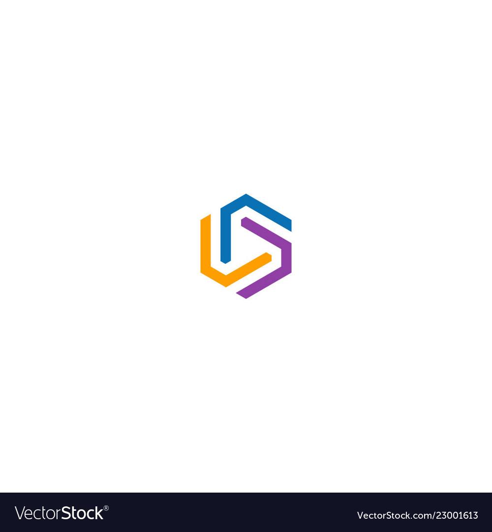 Circle line geometry colorful logo