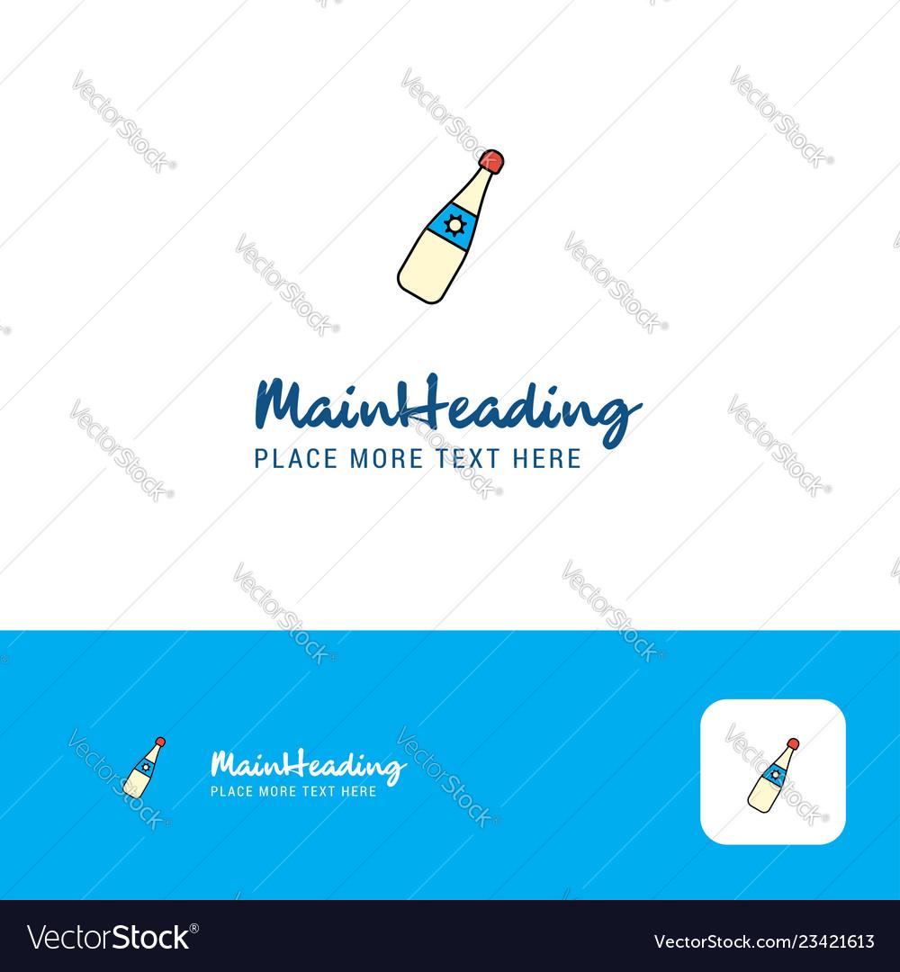 Creative celebration drink logo design flat color