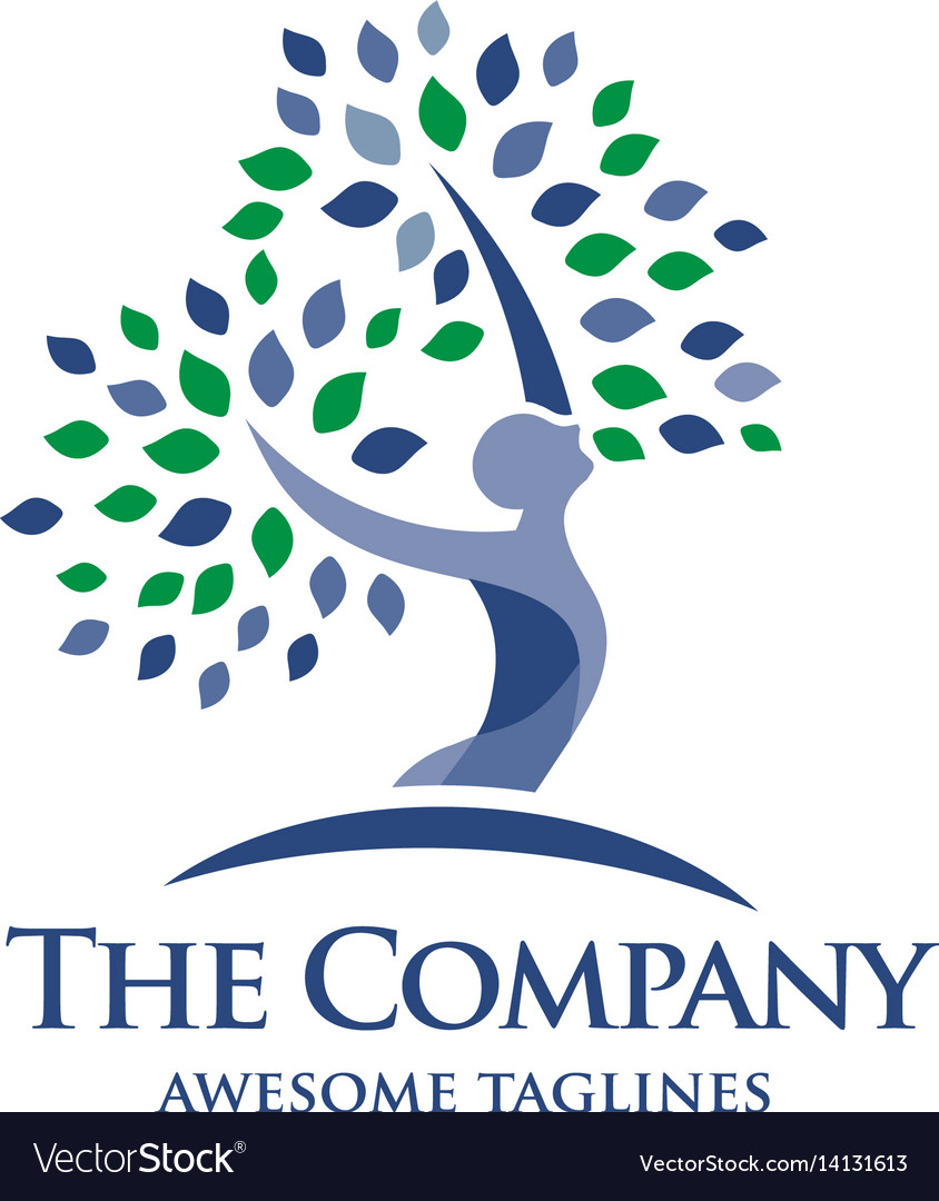 Elegant psychology and mental health logo