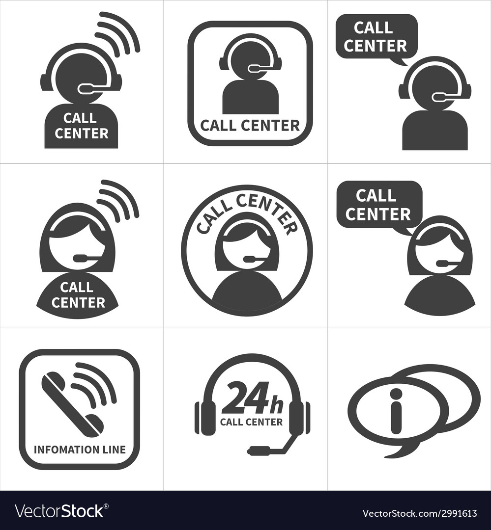 Icon set call center