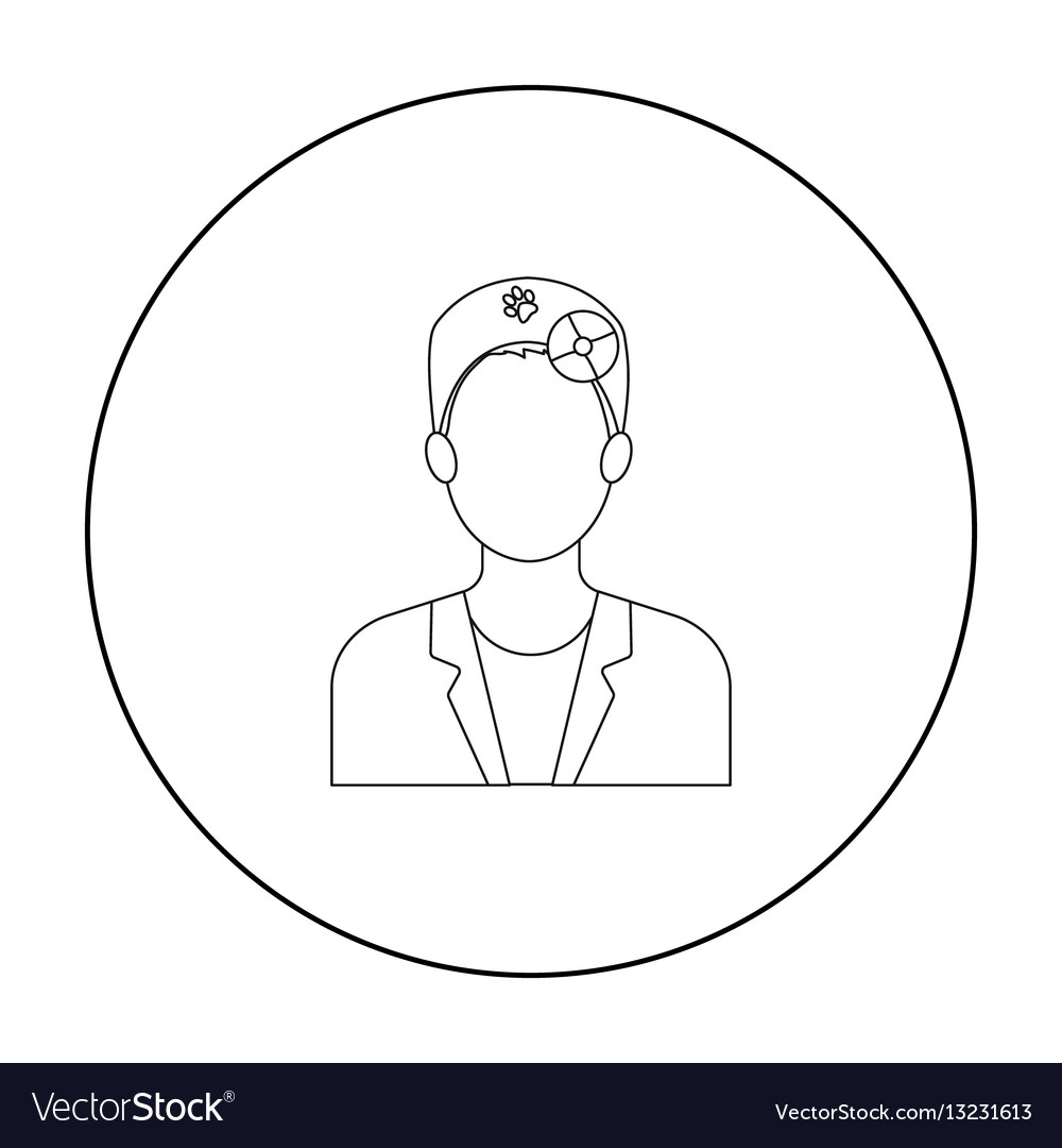 Pet doctor icon in outline style isolated on white vector image
