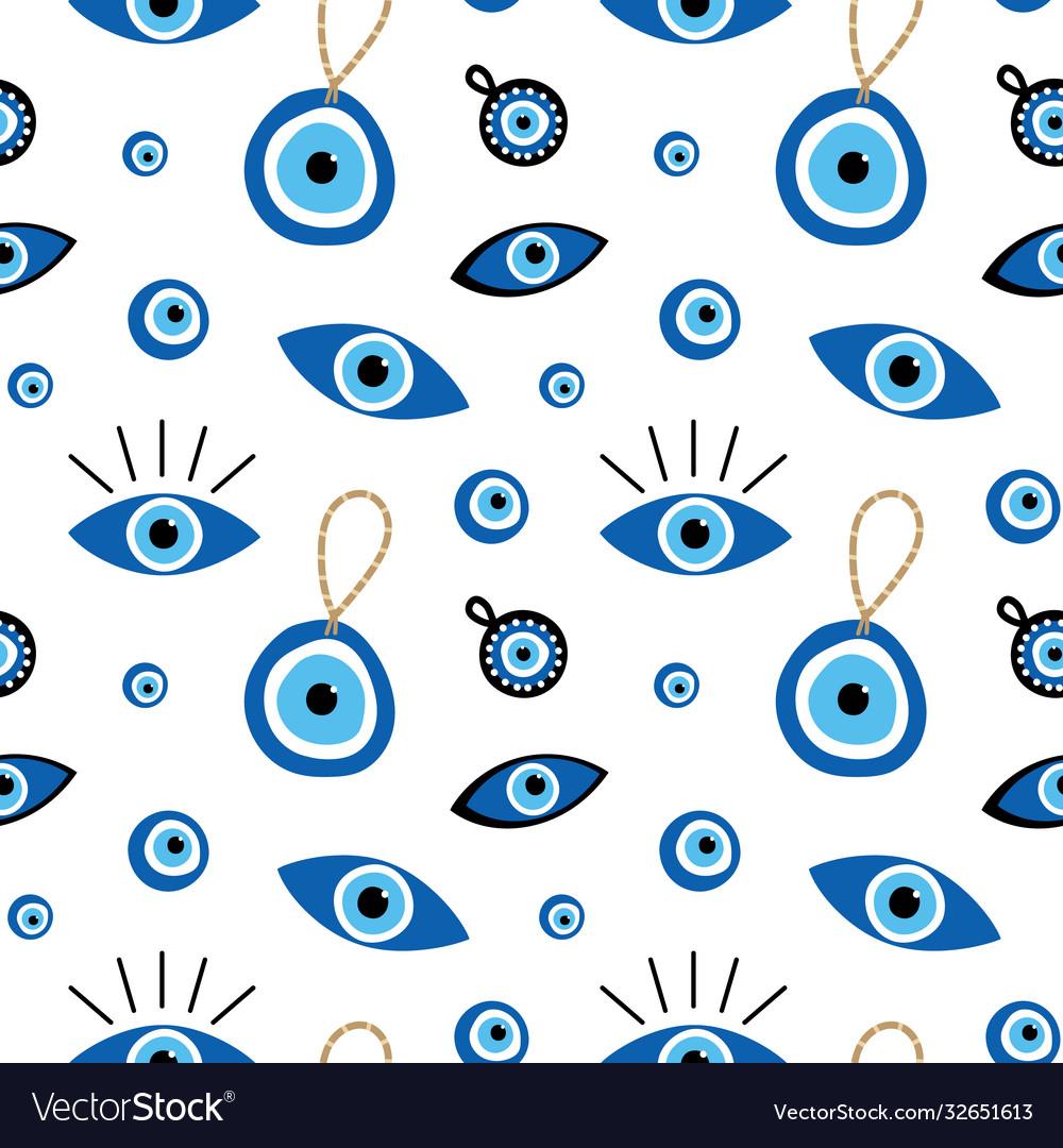 Turkish blue eye shaped amulets talismans pattern