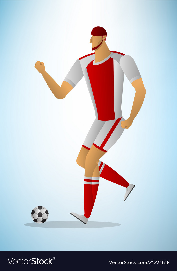 Abstract of football player in