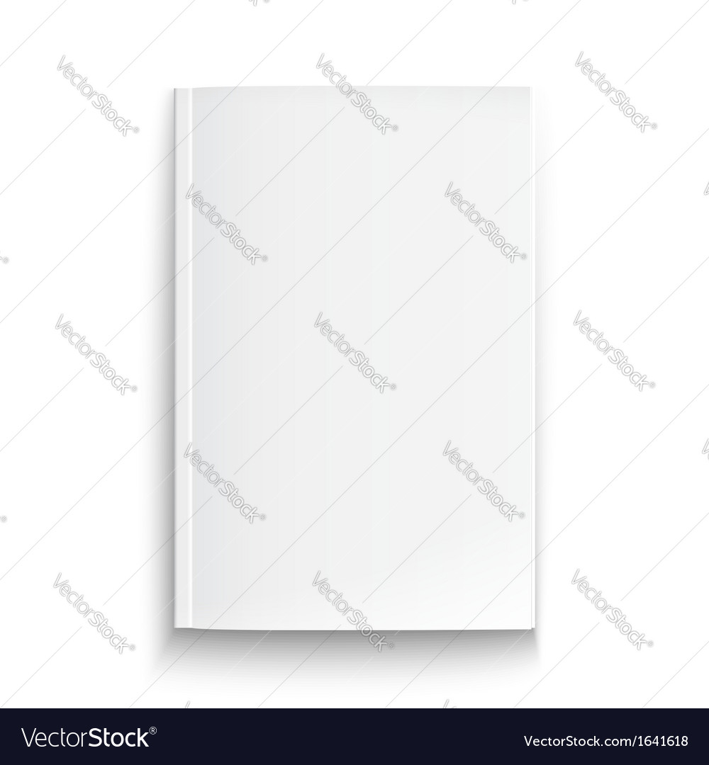 Blank magazine template with soft shadows