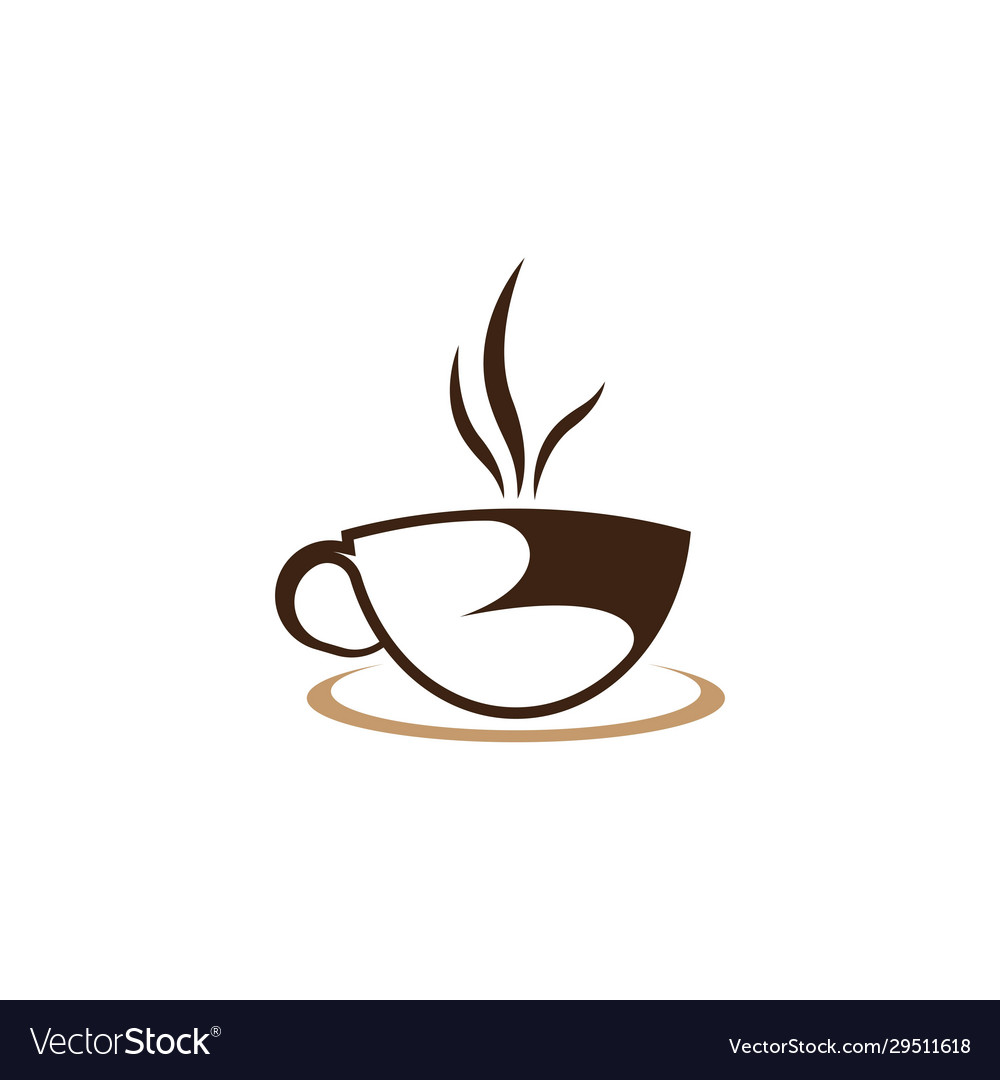 Coffee Cup Logo Template Icon Royalty Free Vector Image