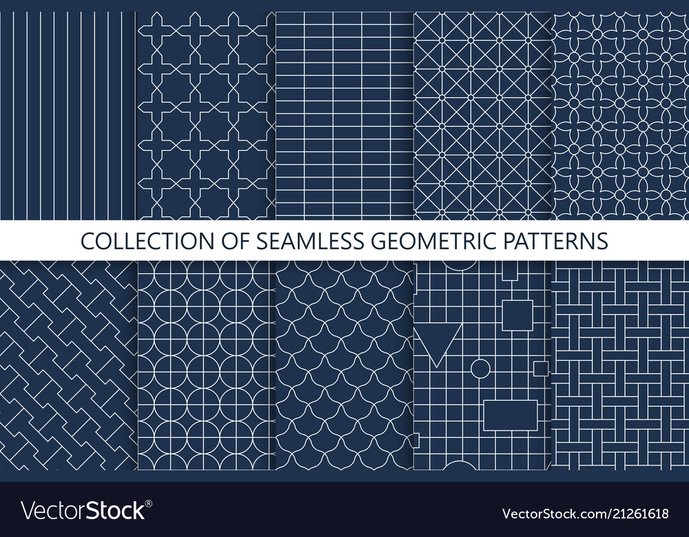 Collection of seamless geometric patterns