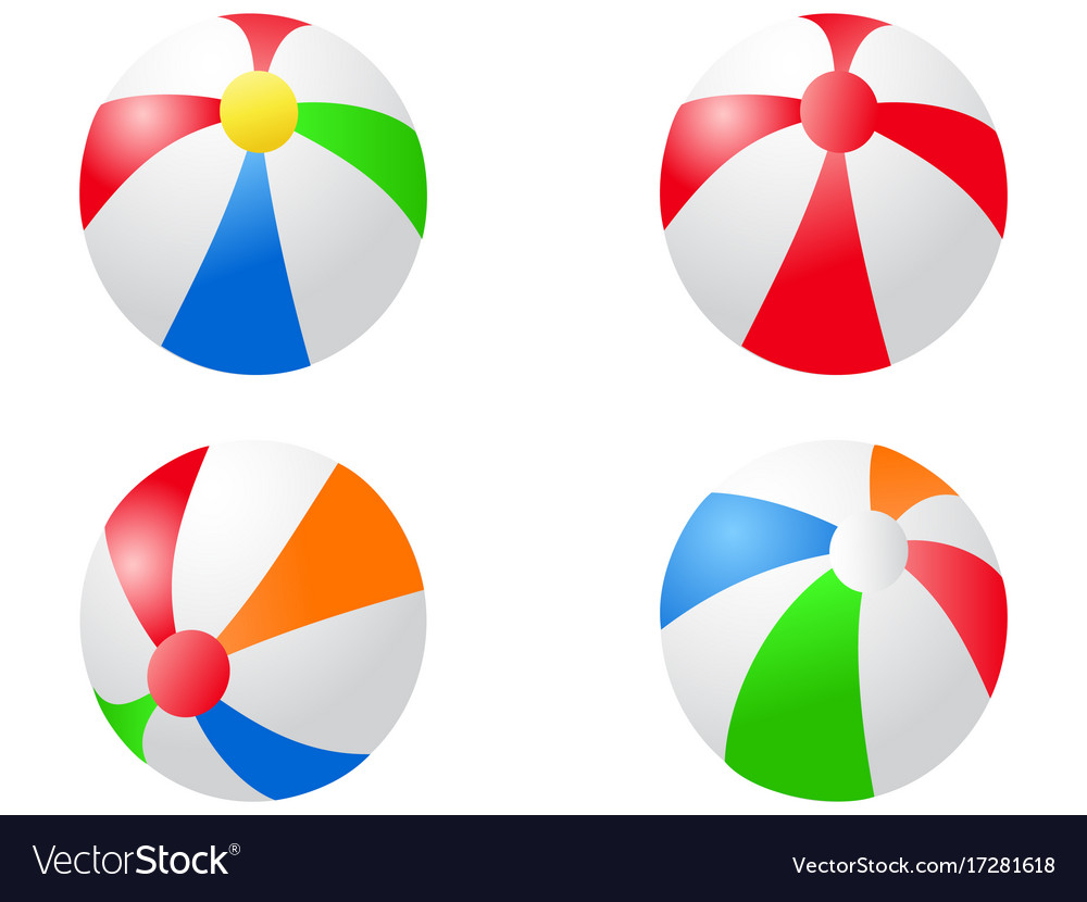 Color beach balls icon