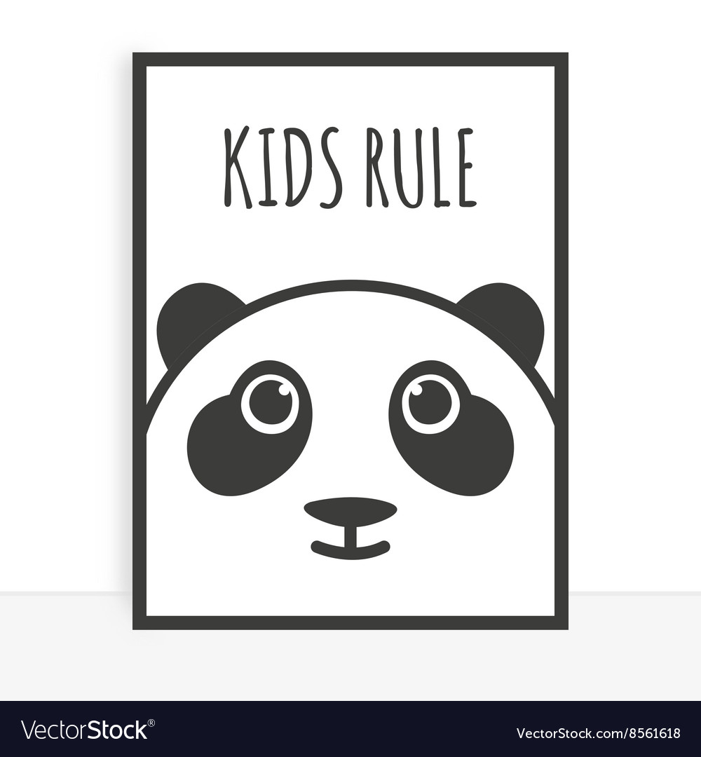 Cute poster vector image
