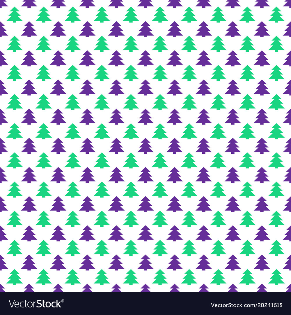 Simple repeating stylized pine tree pattern