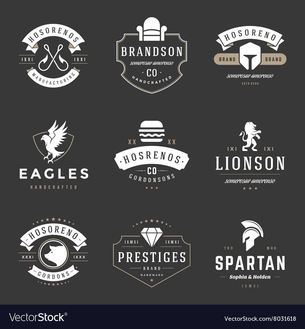 vintage logos design templates set royalty free vector image