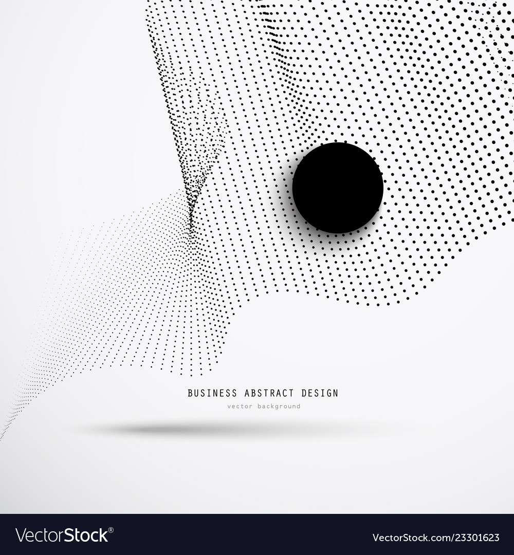 Abstract 3d business background of black dots