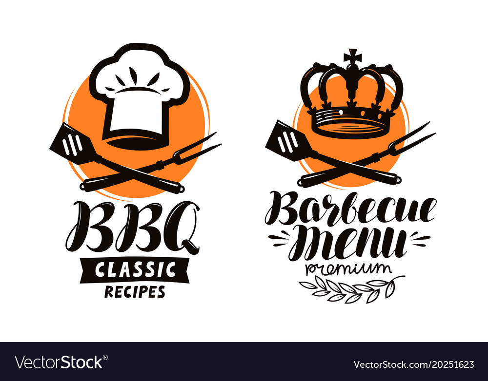 Bbq Barbecue Logo Or Label Element For