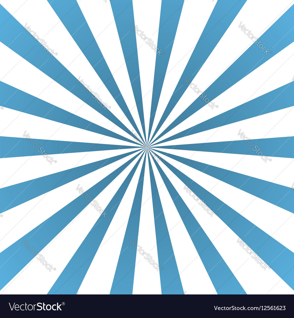Blue white rays poster flare vector image