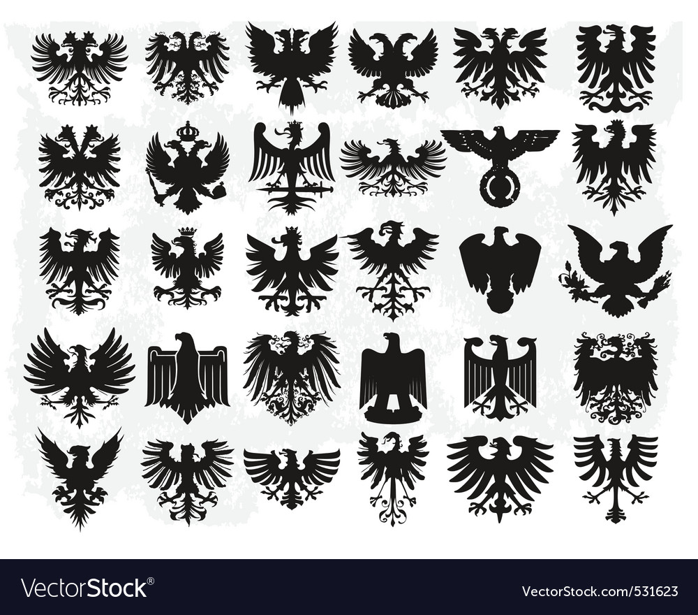 Heraldiic eagles