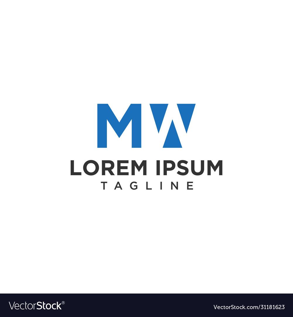 Mw negative space logo