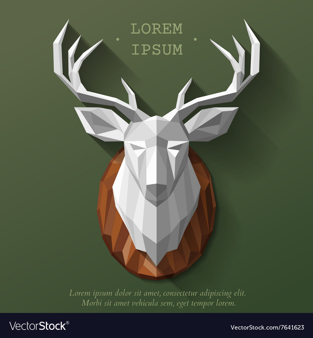 Poly deer head